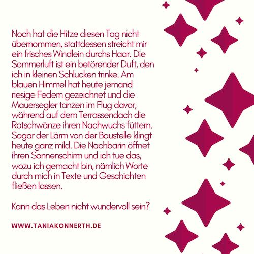 Juli-Morgen von Tania Konnerth